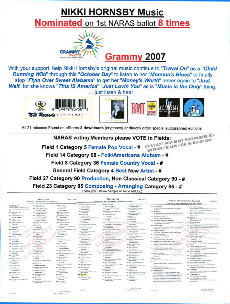 lst Ballot Grammy 8 placements
